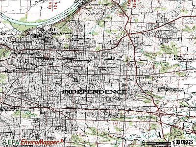 Independence topographic map