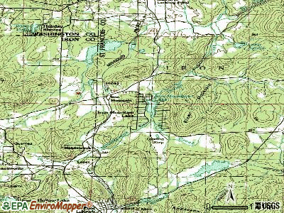 Iron Mountain Lake topographic map