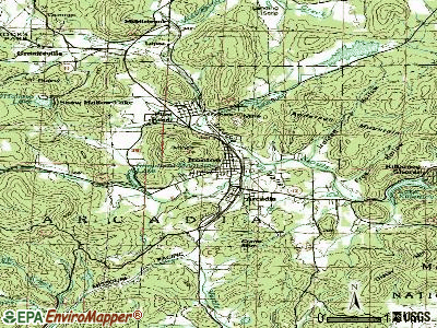 Ironton topographic map