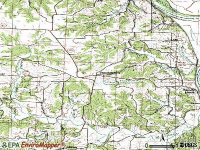 Jamestown topographic map