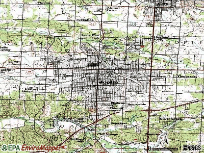 Joplin topographic map