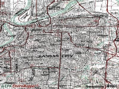 Kansas City topographic map