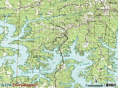 Kimberling City topographic map