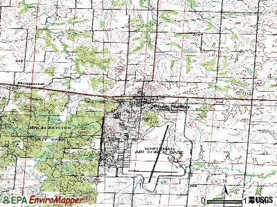 Knob Noster topographic map
