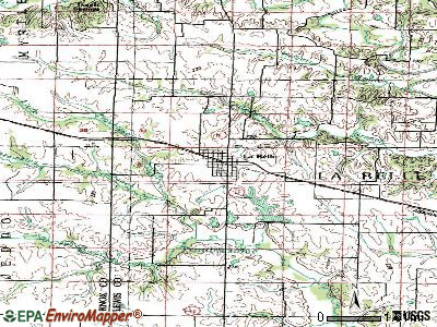 La Belle topographic map