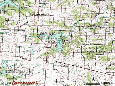Lake Lotawana topographic map