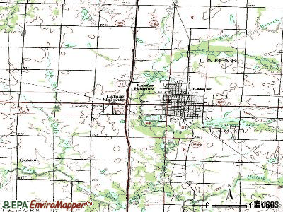 Lamar Heights topographic map
