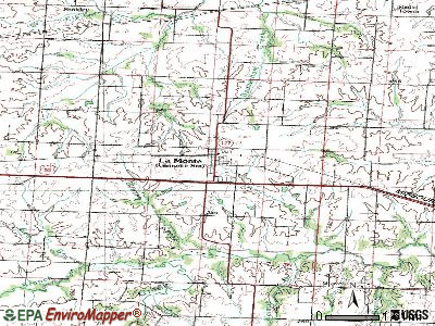 La Monte topographic map