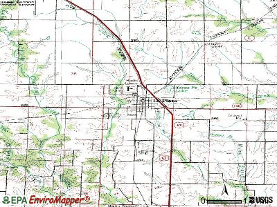 La Plata topographic map