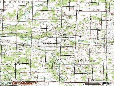 La Russell topographic map
