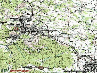 Leadington topographic map