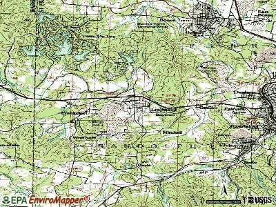 Leadwood topographic map