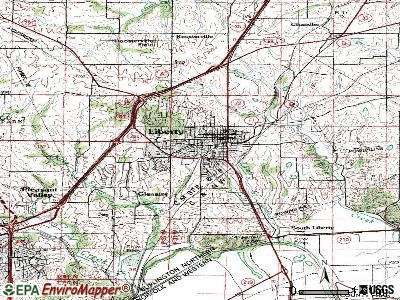 Liberty topographic map