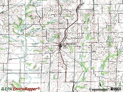 Linneus topographic map