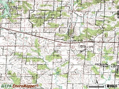 Lone Jack topographic map