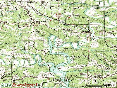 McCord Bend topographic map