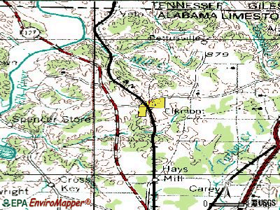 Elkmont topographic map