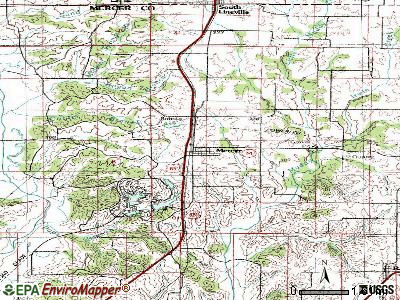 Mercer topographic map