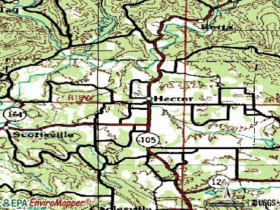 Hector topographic map