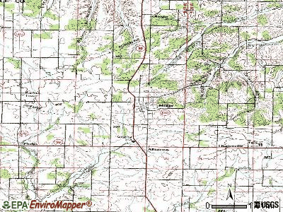 Miller topographic map