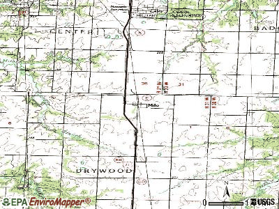 Milo topographic map