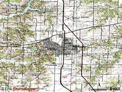 Moberly topographic map