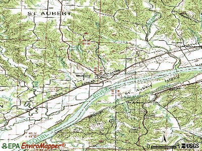 Mokane topographic map