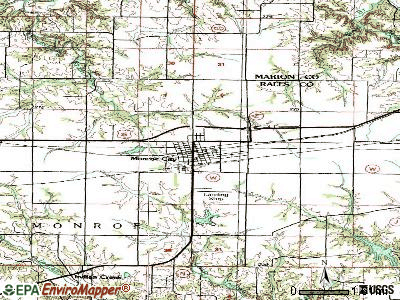Monroe City topographic map