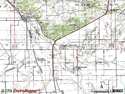 Morley topographic map