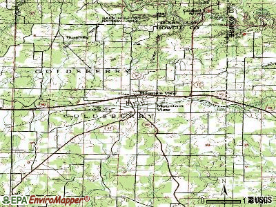 Mountain View topographic map