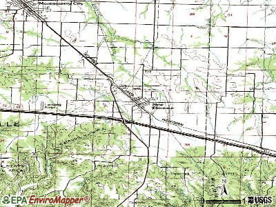 New Florence topographic map