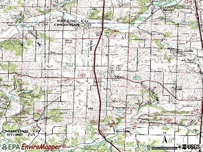 Nixa topographic map