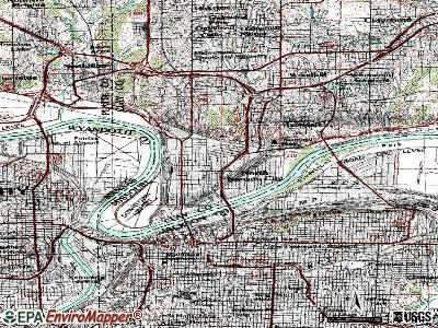 North Kansas City topographic map