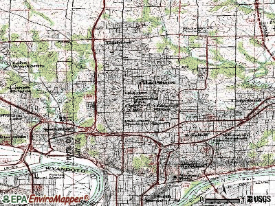 Oakwood topographic map