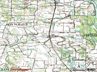 Old Monroe topographic map