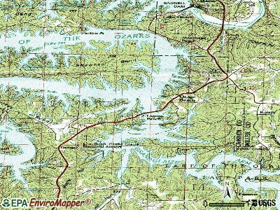Osage Beach topographic map