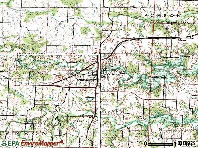Paris topographic map