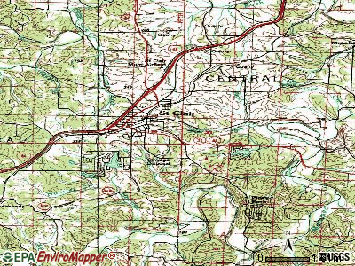 Parkway topographic map