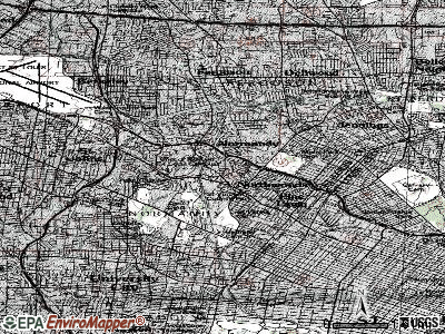 Pasadena Park topographic map