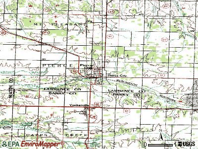 Pierce City topographic map