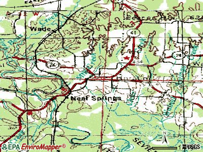 Horatio topographic map