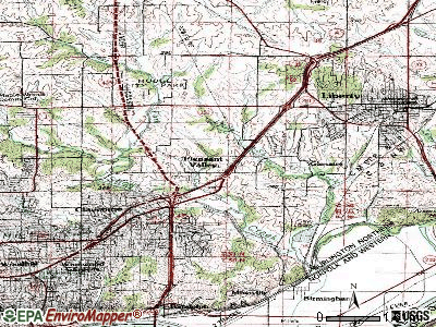 Pleasant Valley topographic map