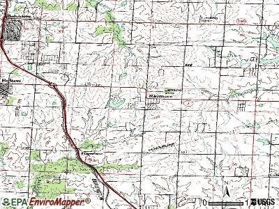 Raymore topographic map