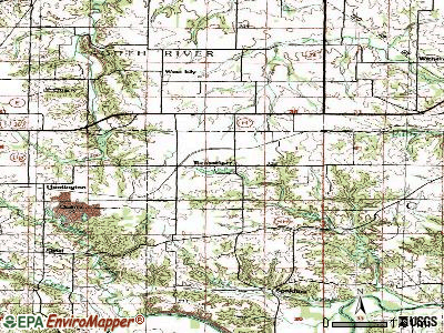Rensselaer topographic map