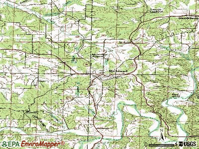 Richland topographic map
