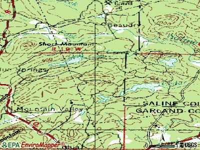 Hot Springs Village topographic map
