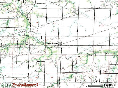 Rush Hill topographic map
