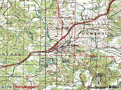 St. Clair topographic map