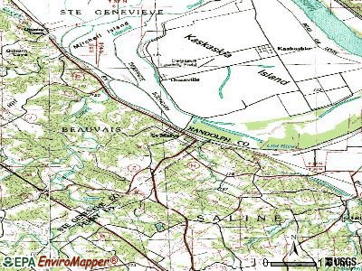St. Mary topographic map