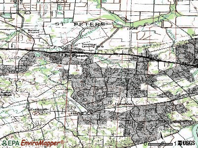 St. Peters topographic map